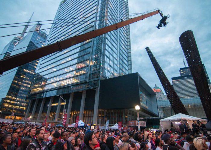 Brendan Schnurr Jib Operator for Toronto Raptors Playoffs in Jurassic Park