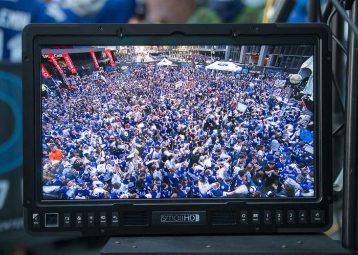Crowd fills Maple Leaf Square for the NHL Playoffs in 2017