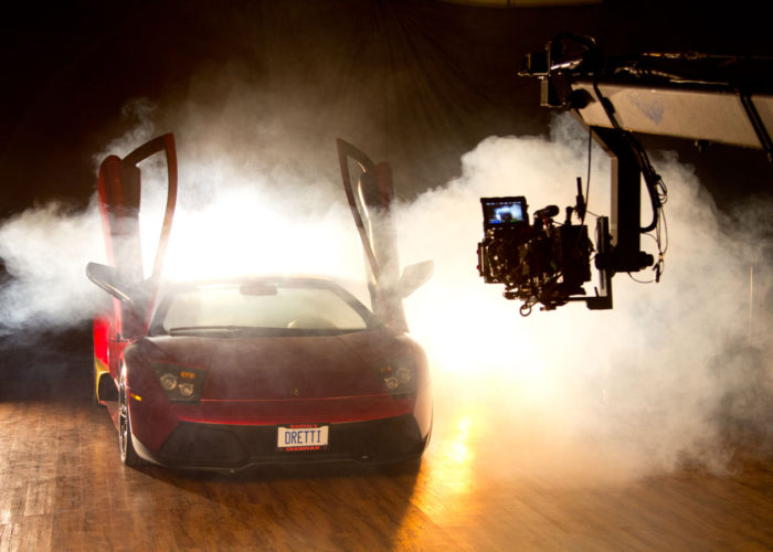 Jimmy Jib Triangle Shooting Lamborghini