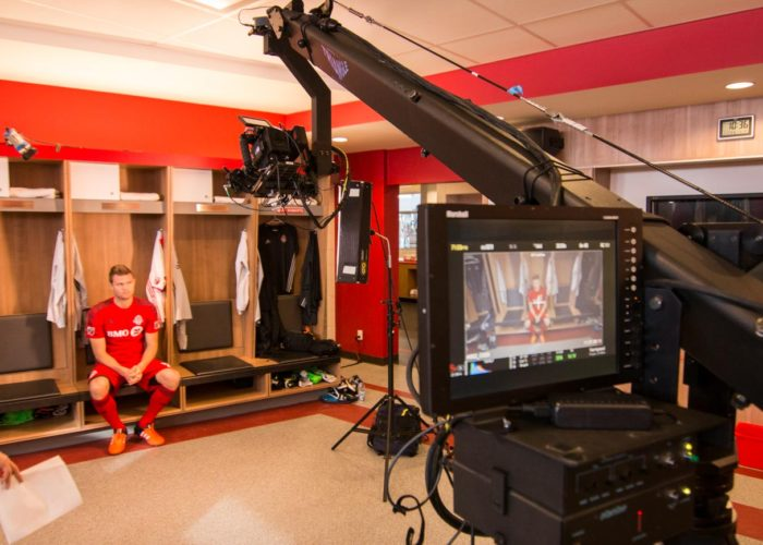 Toronto FC Media Day with Jimmy Jib Triangle