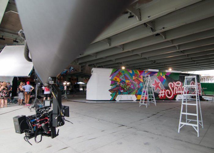Brendan Schnurr Operating his Crane for Heineken Commercial