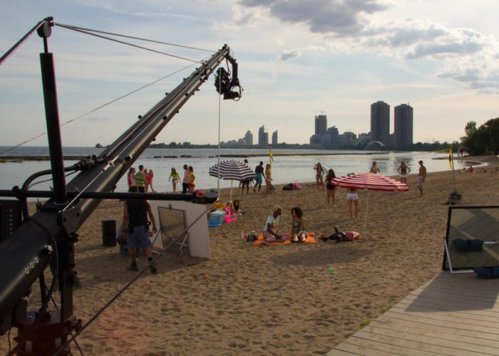 Toronto Jib Operator Shoots Music Video with Skyline